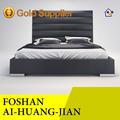 suave de color negro de cuero baratos pvc cama