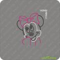 Adorável Minnie Mouse transferência strass animais