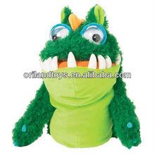 monstruo de la mano de los animales de juguete de marionetas