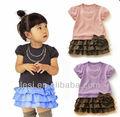 menina vestido de algodão vestido de manga curta China fornecedor de roupas