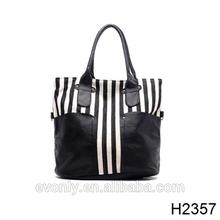 h2357 inspirado diseñador mano lienzo bolsa de cuero de la pu colores juntos unirse a la bolsa de cuero