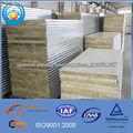 Panel sándwich de lana de roca de calidad para la construcción de acero ligero