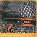 7.5mm espesor poliéster alta elasticidad respirable urdimbre tejida tela del espaciador 3d para la cubierta de la motocicleta