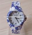2014 nueva dama caliente venta de china nacional de porcelana azul y blanca reloj banda