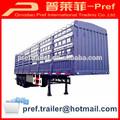 13m Steel poultry transport trailer/semi livestock trailers for sale/animal transporter trailers