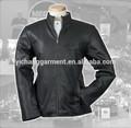 nuevo producto simple de estilo de cuero negro genuino chaqueta para los hombres de surtidor de china