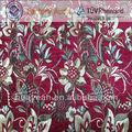 Tela da cortina Flor projeto chenille estilo Oriente Médio