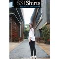 2014 100% de moda casual blusa de lino para uno- blusa hombro