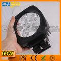 Luz de trabajo Hotsale LED 60W 6000 lm IP67 alta potencia de luz LED de trabajo para los carros / autos