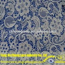 venda quente algodão renda guipure vestido apliques de flores de tecido