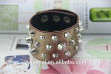 de cuero hecho a mano de la moda braceletsfor hombres pulsera de cuero del oro