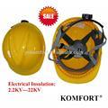 polietileno de alta densidad industrial ligero de trabajo eléctrico casco de seguridad