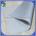 Hangzhou fabricante de tela de tapicería del coche PU impermeable de plata recubierta de tela cubierta del coche