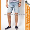 Mais barato venda quente qualidade superior shorts jeans, washed denim calças casual, material de ganga( hyms408)