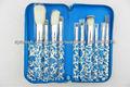 10pcs Colored Professional Makeup Brush Set