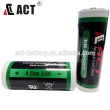 Un tamaño de la batería ER18505 3.6V Li-SOCl2