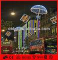 Iluminado para cima do guarda-chuva decoração e caixa de presente de luzes motivo haning até a rua
