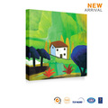 Pared decorativo que cuelga la pintura al óleo sobre lienzo paisaje aldea