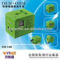 Adaptador universal de viagem com dupla usb plug com adaptador ue uk ua eua normas( ch- 148- 1)