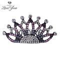 de lujo y elegante de la reina de la corona para las niñas de la corona diadema cristal corona de reina para los niños