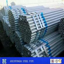 galvanizado tamaño de la tubería de acero