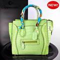 nueva llegada hermosa elegante de alta calidad de las mujeres bolsos de cuero genuino bolso bolsos fabricados en china
