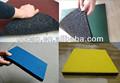 Construction plancher de caoutchouc recyclé, gym tapis en caoutchouc