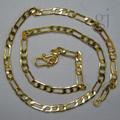venta al por mayor de oro figaro cadenas para los hombres