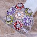 los anillos de platino precio de fábrica de latón cz joyería de platino