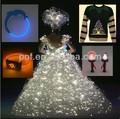 Fibra óptica decoração, decoração de fibra óptica de plástico para brinquedos e presentes de brilho