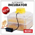 Ew-96 de alta calidad ce aprobado automática de huevo de gallina de huevos para incubar máquina 98% hatching
