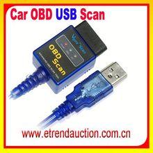 Usb cable de diagnóstico del escáner de fallainterfaz de códigos de problemas para los vehículos obd-ii