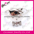 Prata CZ bonito Olá Kitty Ring Finger For Girls
