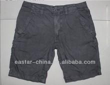 stock baratos de algodón de los hombres de pantalones cortos de las bermudas