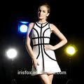 de color blanco puro vendaje elegante vestido negro de encaje vestido de vendaje para las mujeres hermosas