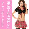baratos para adultos del sexo rojo seductor de la escuela uniforme de niña de vestuario