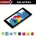 Hecho en la ciudad de shenzhen 16:9 capacitiva 7' dual core cpu allwinner tablet mid android 4.0