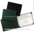 escuela papelería portadocumentos tipo 600d titular tipo de carpeta de certificado de cuero carpeta de la oficina diploma