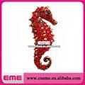 Red Crystal Rhinestone Ocean Seahorse Pin Fashion Costume Jewelry Pin Brooch