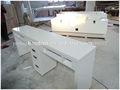 qualidade profissional sólida superfície do prego móveis de salão de manicure unhas tampo de mármore branco mesa de manicure