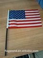 De poliéster bandera del país, mano agitando banderas para los deportes, de la promoción