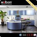 2014 Welbom Estilo Nuevo Simple Lacado Violet Brillo Diseño de Cocinas Empotradas