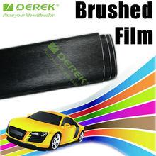 Cepillado del coche del color cambiante película del vinilo negro, pincel envolver rollo Vinyle Auto
