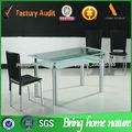 vidro de jantar cadeira de mesa új stílus Vidro mesa de jantar e 6 cadeiras conjunto TD009
