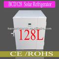 nuevo 2014 128l dc alimentado por energía solar frigorífico congelador del refrigerador