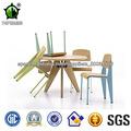 Plywood capítulo del metal colorido Silla de comedor Norma Jean Prounve silla de comedor
