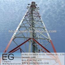 de telecomunicaciones galvanizado por inmersión en caliente de acero del ángulo de la torre