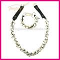 mejor venta de plata americana de cobre plateado collar conjunto