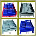 Heavy duty plegable almacén& contenedores de malla de alambre de contenedores de malla& caja de almacenamiento