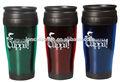 De doble pared de sublimacion de plástico taza de viaje, taza de la publicidad, 400ml promoción taza de café